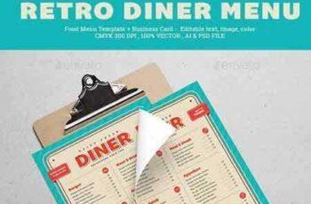 1706106 Retro Diner Menu 20285230 3