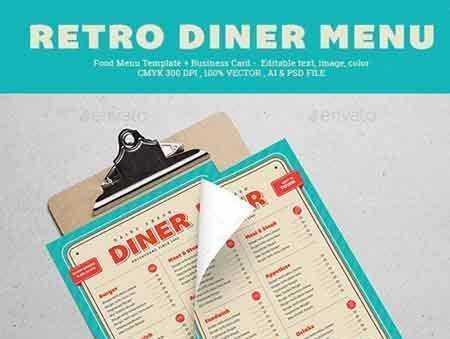 1706106 Retro Diner Menu 20285230