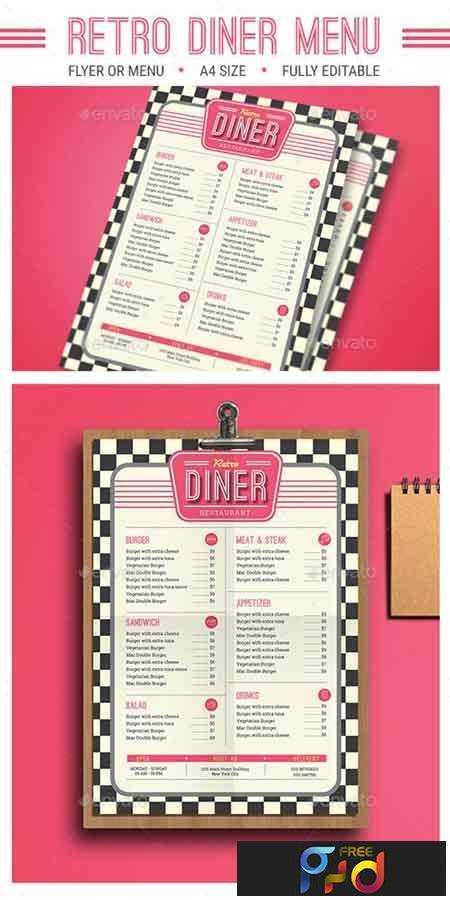 1706107 Retro Diner Menu 16044609