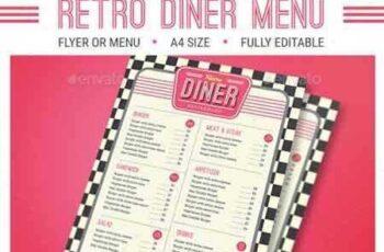 1706107 Retro Diner Menu 16044609 7