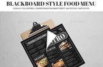 1706108 Blackboard Style Food Menu 19687678 3
