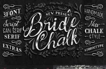 1706114 BrideChalk Typeface + Extras 3