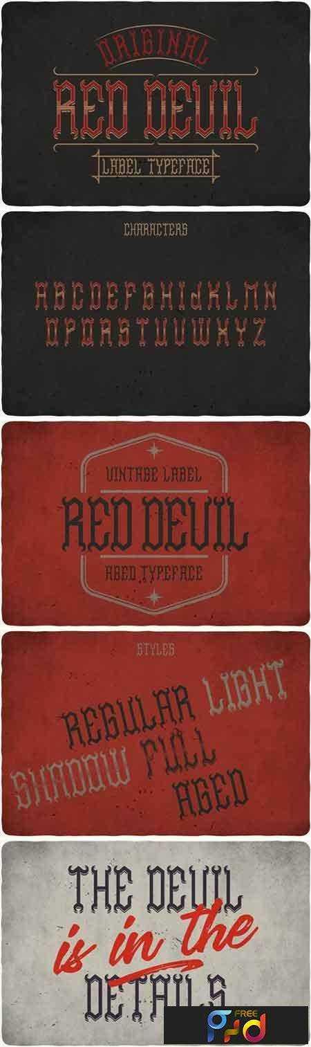 1706121 Red Devil Typeface 1820295 1