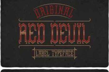 1706121 Red Devil Typeface 1820295 6
