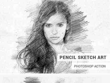 Pencil Sketch Art Photoshop Action Free