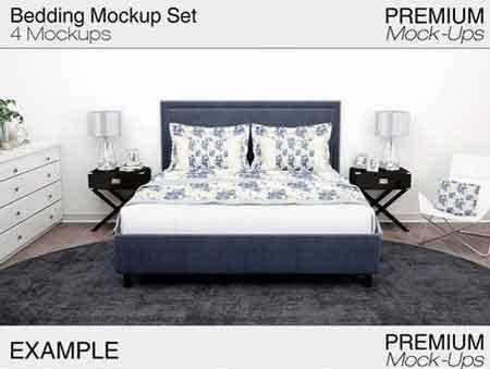1706196 Bedding Mockup Set 1821415 Freepsdvn