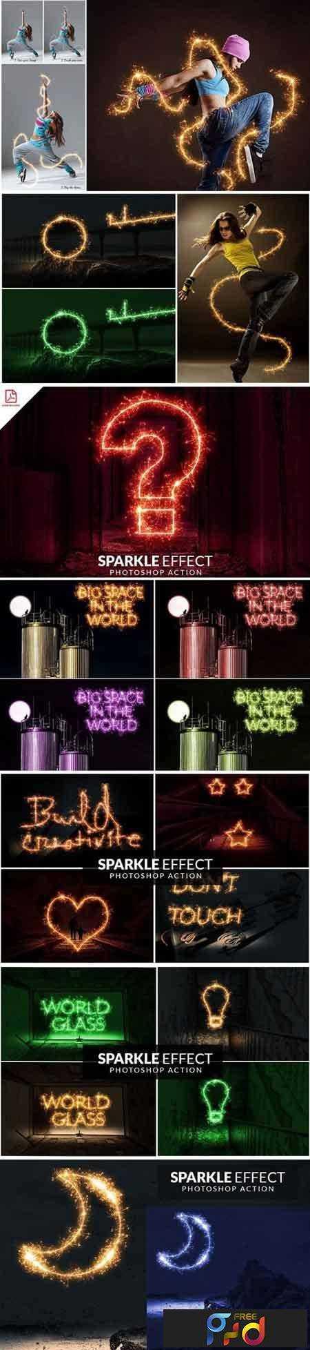 1706236 Sparkle Effect Photoshop action 1871076 1