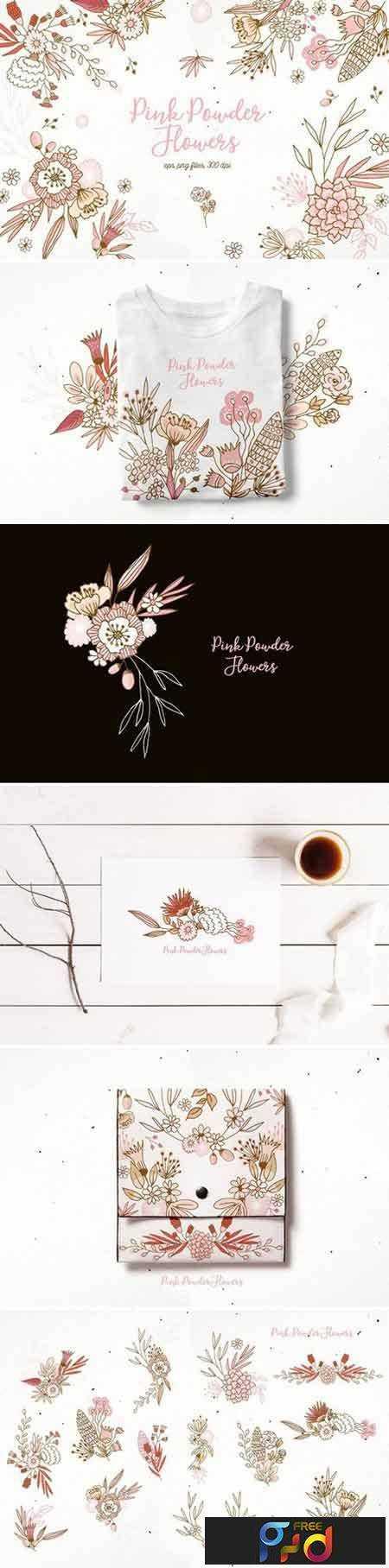 1706239 Pink Powder Flowers 1871356 1