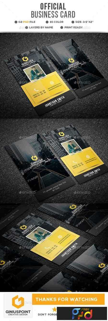 1706263 Official Corporate Business Card 20766864 1
