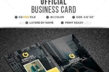 1706263 Official Corporate Business Card 20766864 6