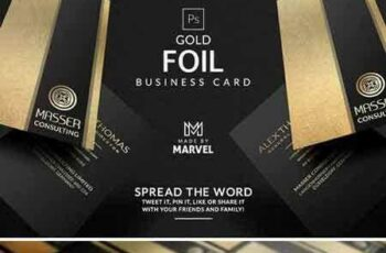 1706277 Gold Foil Business Card 1888090 4