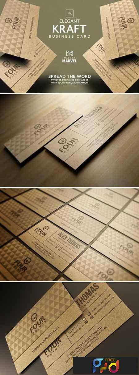 1706280 Elegant Kraft Business Card 1888164 1
