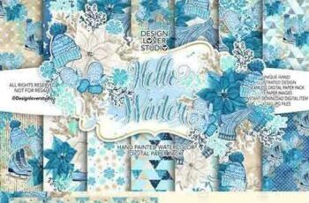 1707013 Hello Winter digital paper pack 1979044 5