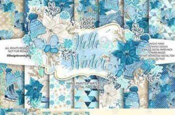 1707013 Hello Winter digital paper pack 1979044 6
