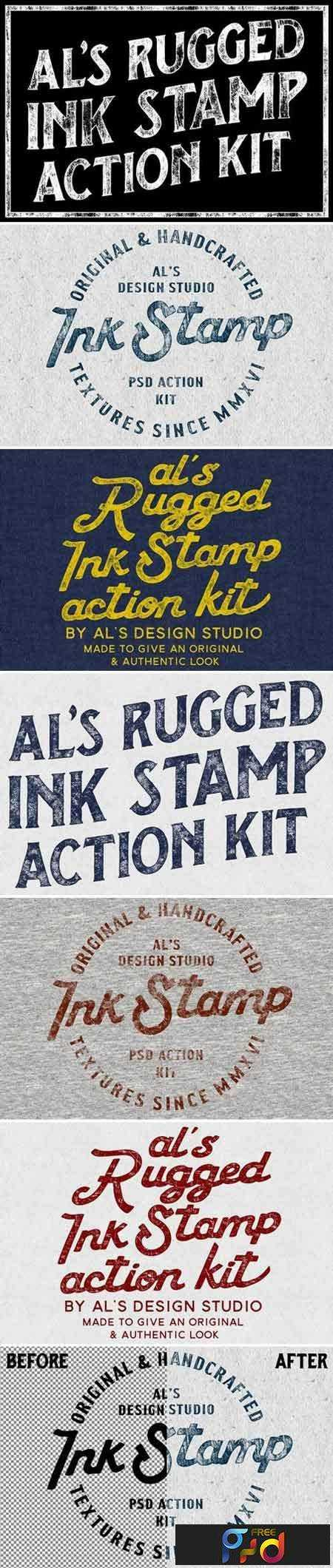 1707084 AL's Rugged Ink Stamp Action Kit 1936294 1