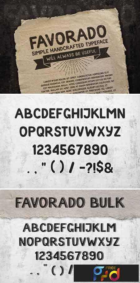 1707096 Favorado typeface 1950920 1