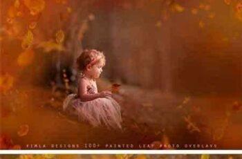 1707100 100+ Painted Leaf Photo Overlays 1904358 3