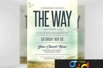 1707128 The Way Church Event Flyer Template 5