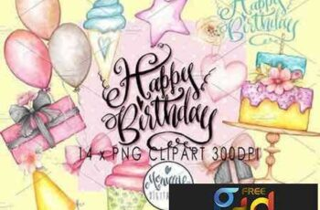 1707142 Happy Birthday Clipart Watercolor 1943233 6