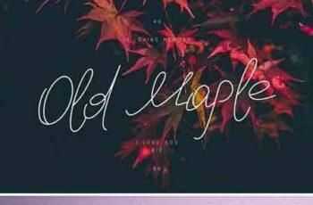 1707185 Old Maple Script Font 1941777 3