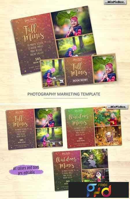 1707196 Fall Mini Session Photo Template v.2 1288952 1
