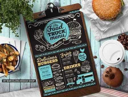 1707200 food truck menu template 2032109 freepsdvn