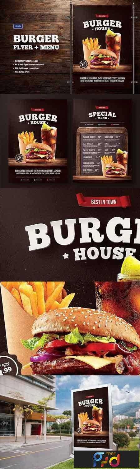 1707201 Burger Flyer + Menu 1391888 1