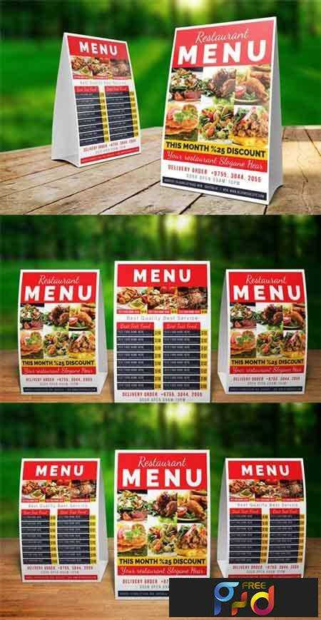 1707203 Restaurant Table Tent Template PSD
