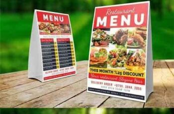 1707203 Restaurant Table Tent Template 4