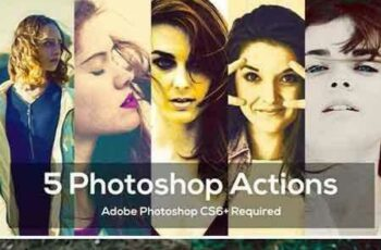 1707207 5 Photoshop Actions Package 1993945 3