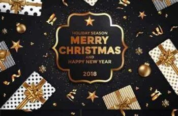 1707219 Stylish Modern Christmas and Happy New Year cards 3