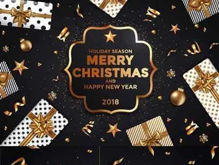 1707219 stylish modern christmas and happy new year cards freepsdvn
