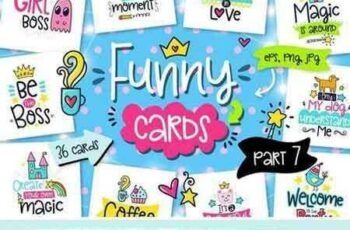 1707254 36 Funny Color Cards with Quote 1941112 3