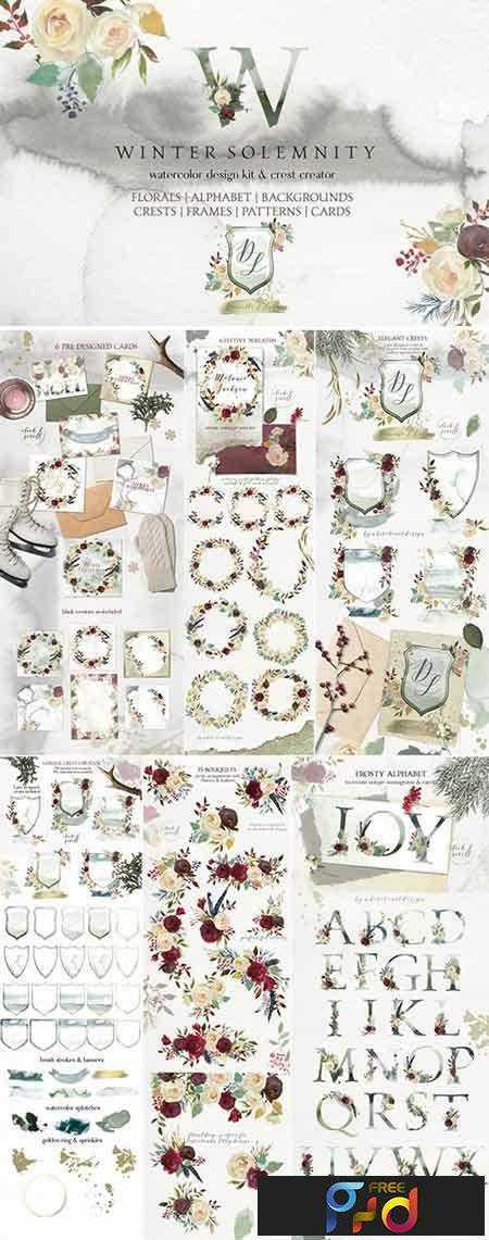 1707255 Winter Solemnity Floral Design Kit 1940998 1