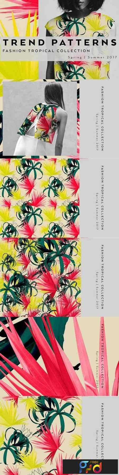1707267 Seamless floral patterns with leaves 1347129 1
