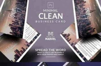 1707284 Minimal Clean Business Card 1441930 3