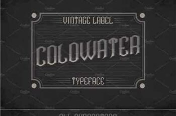 1707293 Coldwater Label Typeface 1440570 2