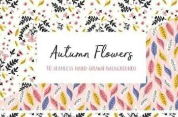 1707294 Autumn Flowers Seamless Patterns 1955679 3