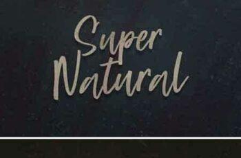 1708002 Super Natural Script Font