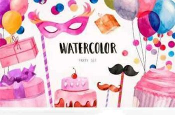 1708016 Watercolor Party Set 2011257