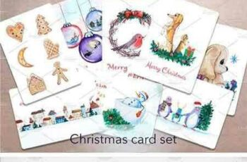 1708020 Watercolor Christmas Card Set 2040439 7