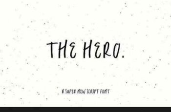 1708022 The Hero SVG + OTF Script Font 2040492 6