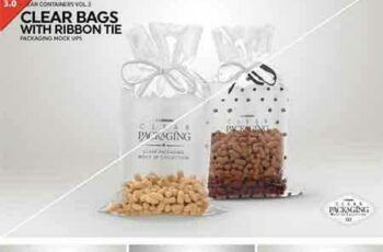 1708039 Clear Candy Bags with Ribbon MockUp 2022759 8