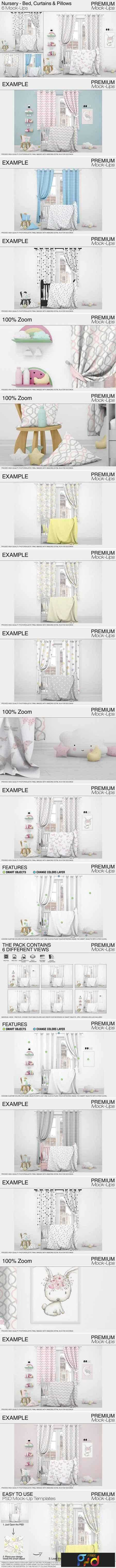 1708053 Nursery - Bed, Curtains & Pillows 2024924 1