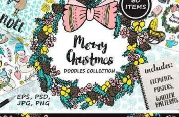 1708080 Christmas Doodles Collection 2022364 2