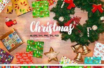1708136 Merry Christmas Seamless Patterns 2039592 3