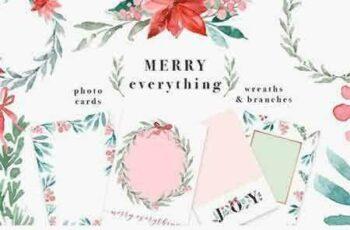 1708137 Merry Christmas Wreath Card Clipart 2038813 5