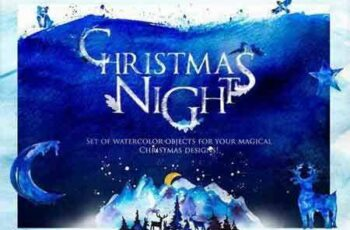 1708146 Christmas Night in Forest-WinterSet 2042521