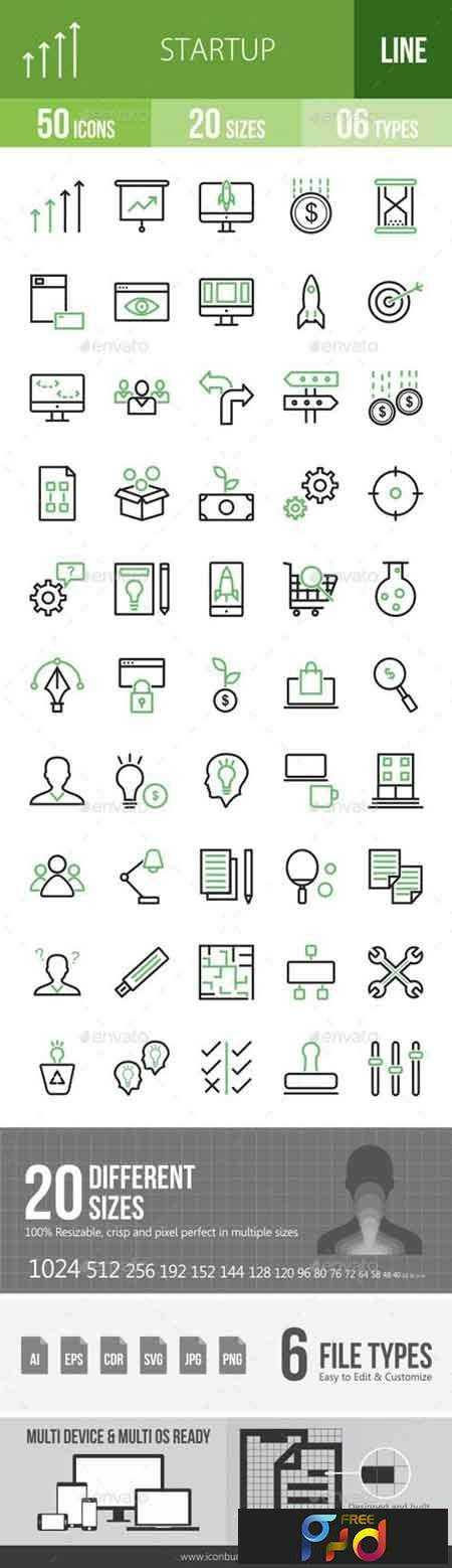 1708155 Startup Line Green & Black Icons 16847634 1