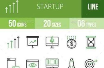 1708155 Startup Line Green & Black Icons 16847634 4